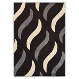 Modern Black ,Dark Grey and Light Grey Acrylic Rug
