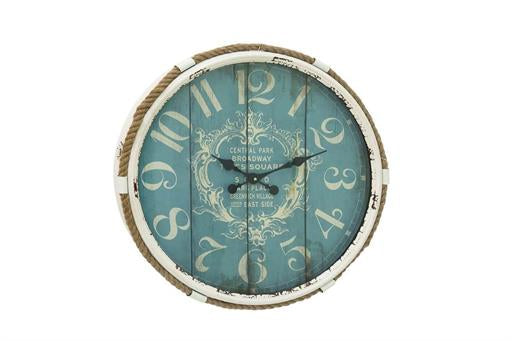 Metal Rope Glass Wall Clock