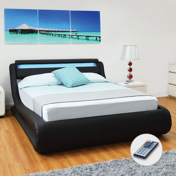 Black Full Platform Furniture Bed