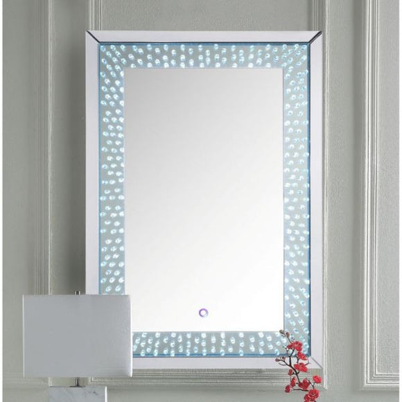 Nysa Wall Mirror (LED) -  Mirrored & Faux Crystals - 32