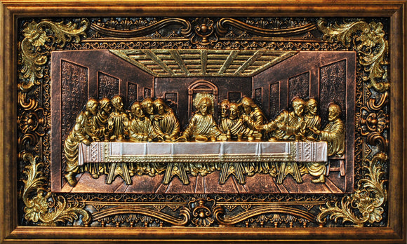 Last Supper 3D Glitter Panel Wall Art Decor