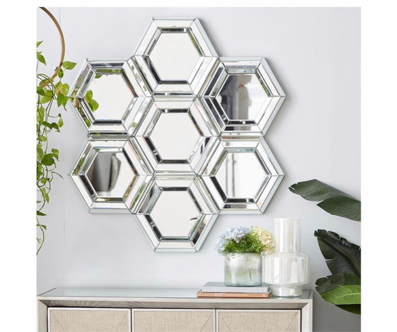 Geometric Wall Mirror - 40
