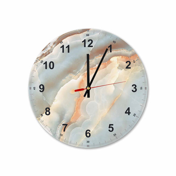 Soft Marble Round/Square Acrylic Wall Clock