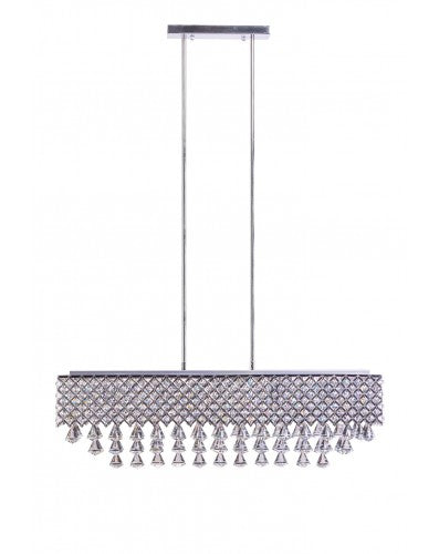 Cinderella Crystal Rectangular Chandelier - 12 Light
