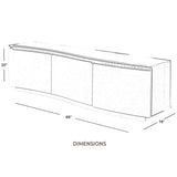 TV Stands and Entertainment Centers with LED Light 69 inch