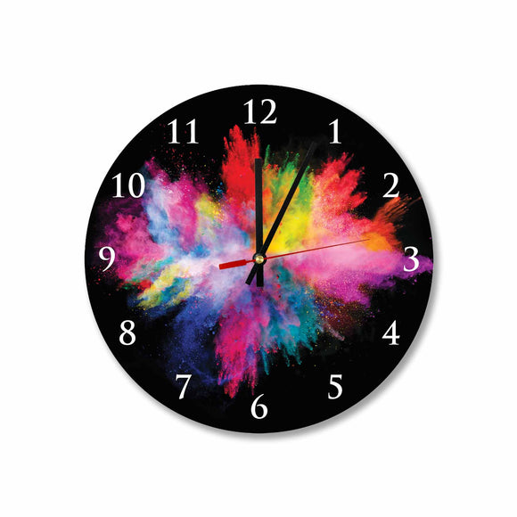 Color Splash Round/Square Acrylic Wall Clock
