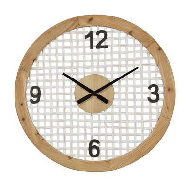 Large Round Wood Wall Clock