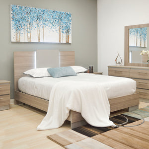 Taupe Queen Platform Furniture Bed
