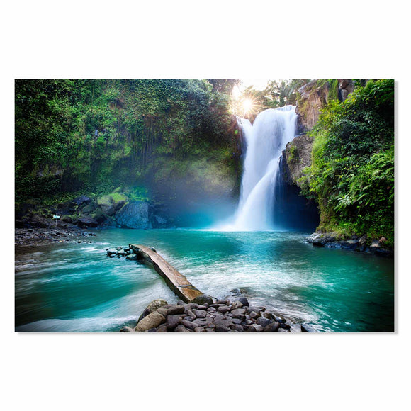 Tempered Glass Art - Tropical Cascade View Fine Wall Art Decor