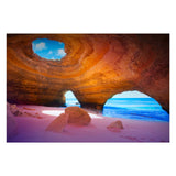 Tempered Glass Art - Benagil Sea Cave Wall Art Decor