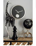 "Cole & Grey Stainless Steel Gear 15"" Wall Clock"