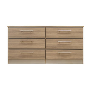Walnut Veneer - 6 Drawers Dresser