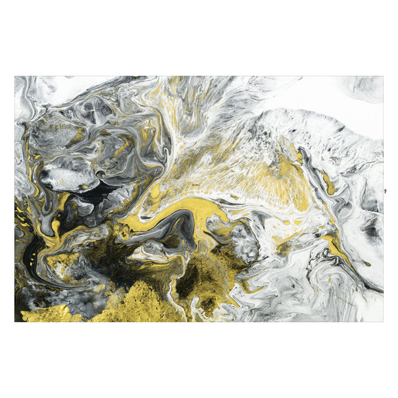 Tempered Glass Art - Yellow Vibrant Wall Art Decor