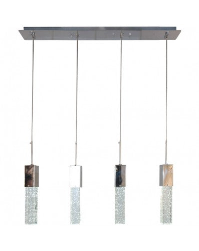 Sparkling Night Chandelier - Lighting Pendant - 4 Crystal Block