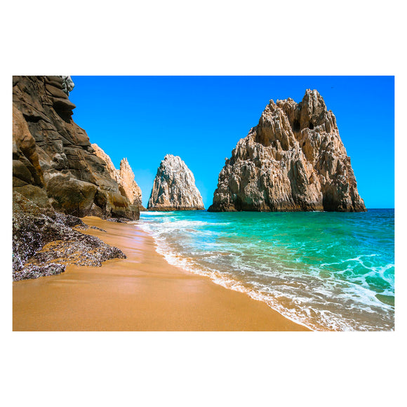 Tempered Glass Art - Cabo San Lucas Beach Wall Art Decor