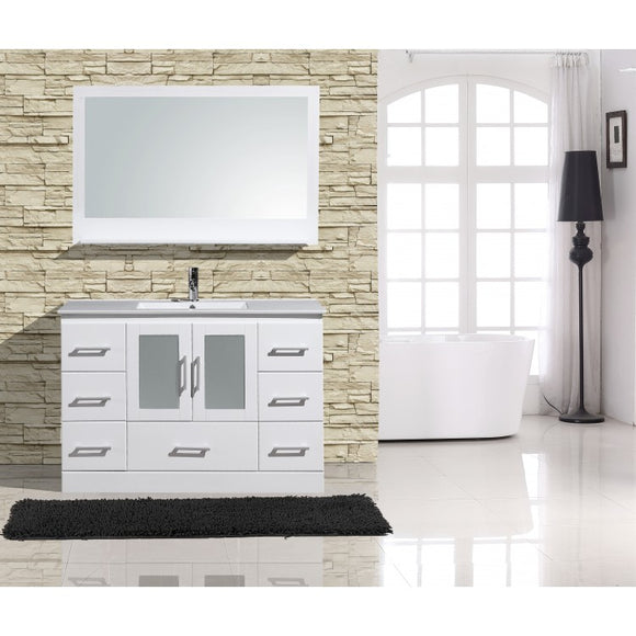 "Alva 48"" White Bathroom Sink Vanity -Alva-48-W-C"