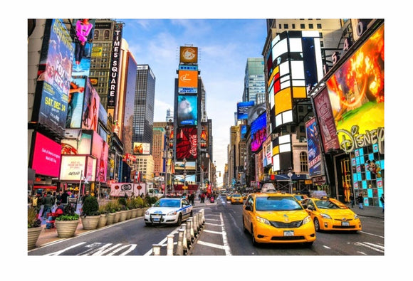 Tempered Glass Art - Times Square Wall Art Decor