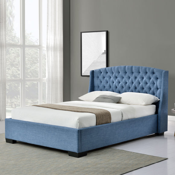 Blue Queen Platform Furniture Bed