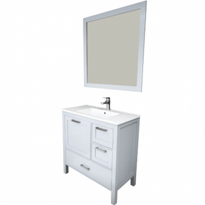 "Positano 36"" Gray Bathroom Sink Vanity -Positano 36"" Gray"