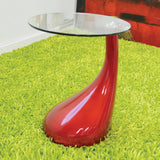 Red Tear Drop End Table