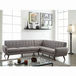 Essick Sectional Sofa  - Light Gray Linen - Furniture