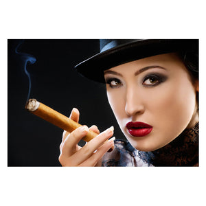 Tempered Glass Art - Smoking Women Wall Art Decor