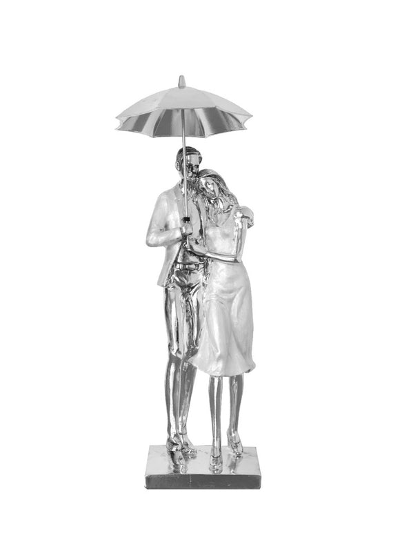 "16"" Couple under Umbrella"