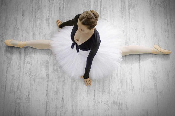Tempered Glass Art - Top View Ballerina Wall Art Decor