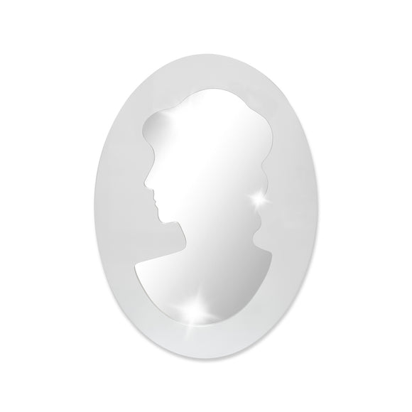 Modern Oval mirror with Woman - 32