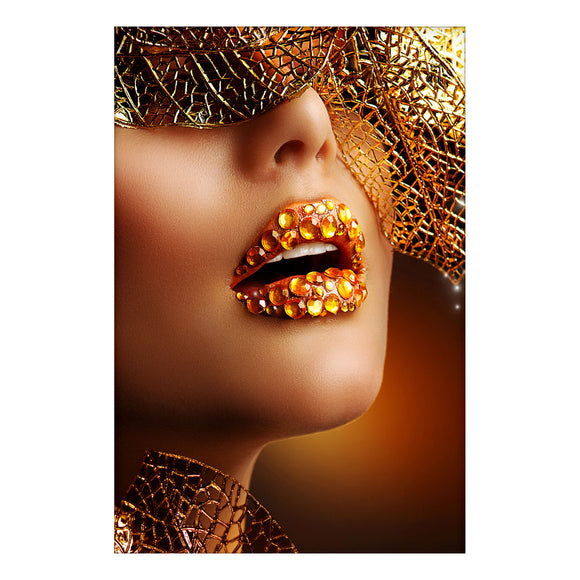 Canvas Art - Golden Holiday Makeup Wall Art Decor