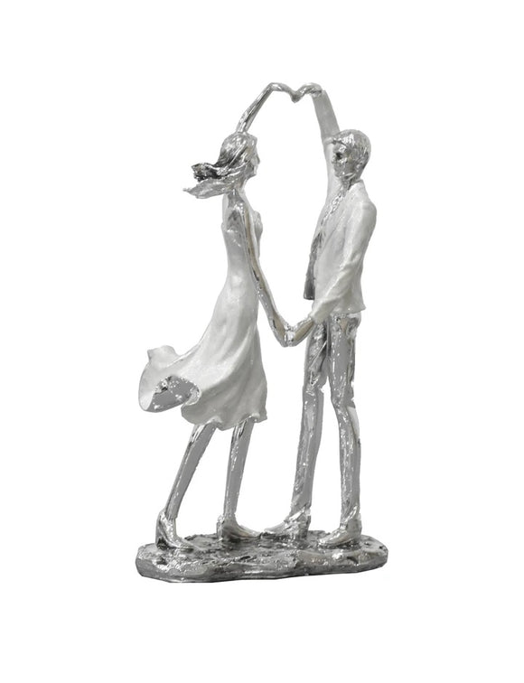 "14"" Couple forming Heart Sculpture"