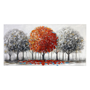 Canvas Art - Red Tree Wall Art Decor