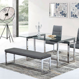 Modern Grey Dining Bench