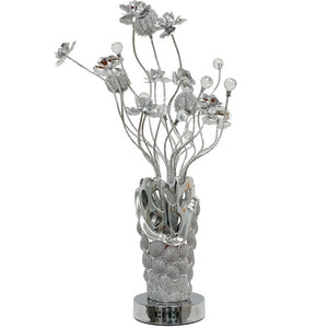 Flowers Table Lamp - Lighting - Metal and Glass 28 inch