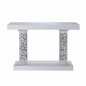 "47"" Kachina Console Table - Mirrored & Faux Diamonds"