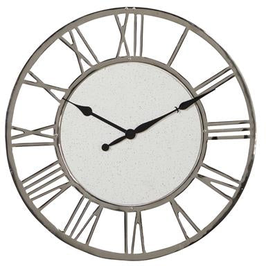 Gray Roman Round Wall Clock