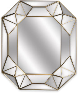 Prism Mirror Silver and Gold
