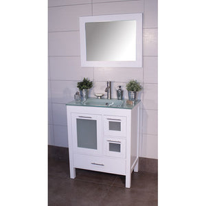 "Positano 36"" White Bathroom Sink Vanity -Positano 36"""