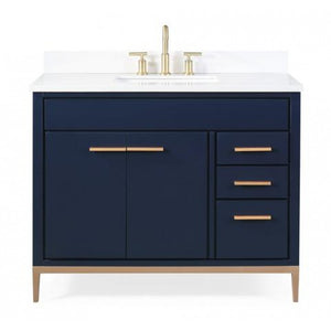"Beatrice 42"" Navy Bathroom Sink Vanity -TB-9448NB-V42"