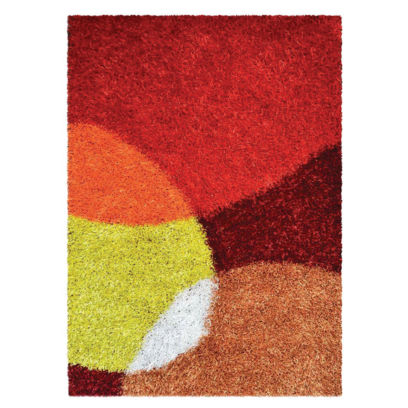 Geometric Modern Multicolor Circles Rug