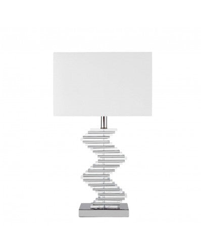 Crystal Two Tone Pave Table Lamp - 3 lighting Settings 27 inch