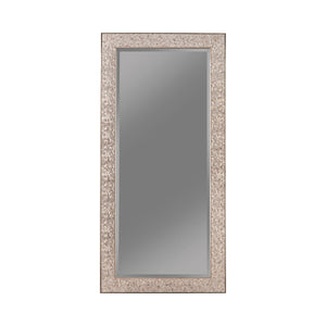"Silver Sparkle Rectangular Floor Mirror - 32""x 66"""