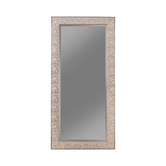 Silver Sparkle Rectangular Floor Mirror - 32