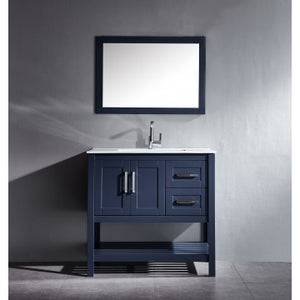 "Beach 36"" Blue Bathroom Sink Vanity -Beach 36"" Blue"