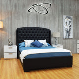 Black King Platform Furniture Bed