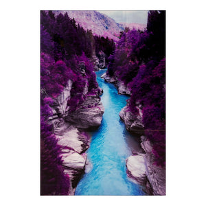 Tempered Glass Art - Purple Guadalupe River Wall Art Decor