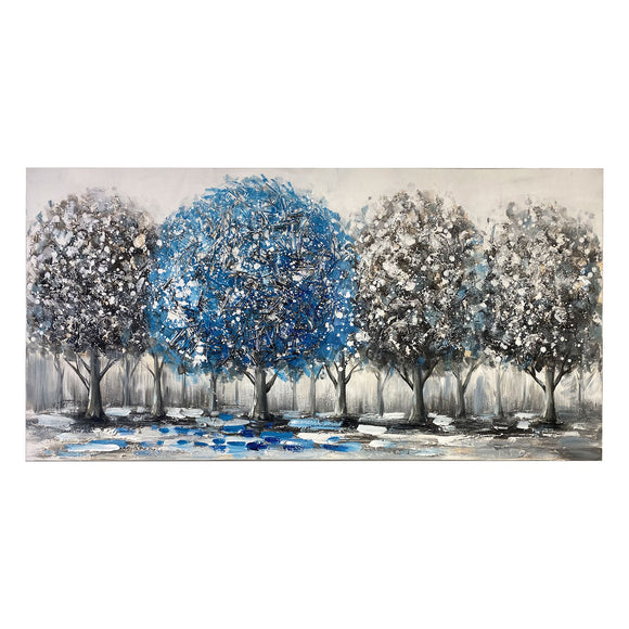 Canvas Art - Blue Tree Wall Art Decor