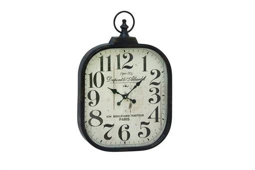 Metal Glass Wall Clock