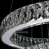 Ceiling Lamp - LED Lighting - Stainless Steel and Crystal