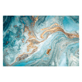 Tempered Glass Art - Blue Vibrant Wall Art Decor
